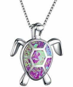Pendentif Tortue Myriade de couleurs modèle violet