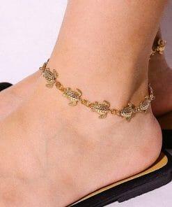 bracelet tortue pour cheville parfait pour la plage
