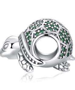 charme de bracelet tortue en argent 925