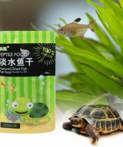 paquet de poisson séché pour tortue de terre